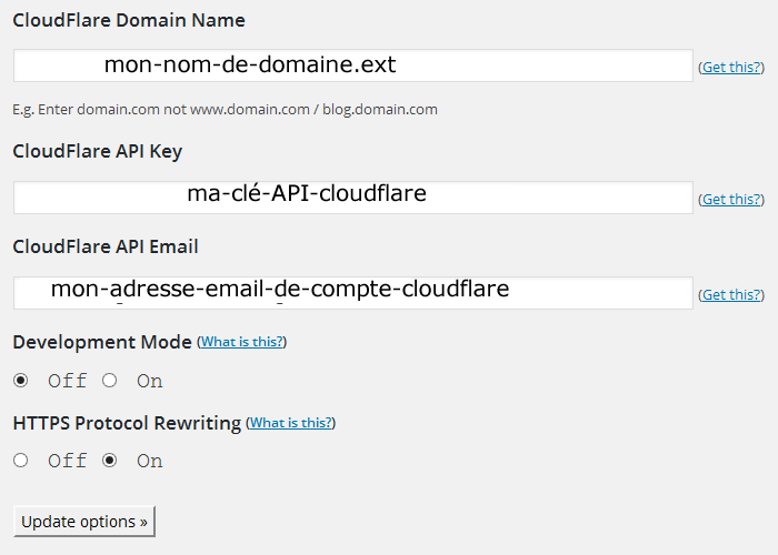 CloudFlare-Configuration